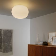 The Bianca ceiling lamp designed by Matti Klenell, produces a soft, diffused, and enveloping light that emits into the surrounding space making the space seem warm and cozy. See more soft diffused lights at LightForm.ca