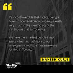 Read more about Cyclica and other startup stories at http://ift.tt/2cIYXyF  #startuphereTO #Toronto #startupstory #successstory #entrepreneur #startuplife #TOWRcorridor #innovation #business #TorontoLife #inspiration