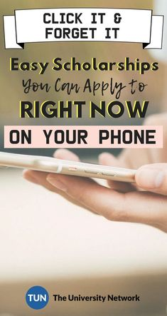 It's 2018. Everything's at our fingertips, even scholarships! Here are 18 scholarships that you can apply to RIGHT NOW, straight from your phone!