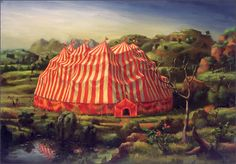 A vintage circus tent....