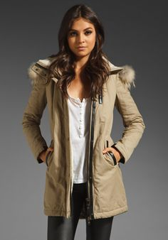 Mackage Lux Trench Freja Jacket in Sand