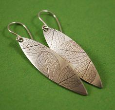 Hydrangea Petal Earrings Handmade Sterling by tigerlillyshop, $40.00