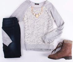 Lace Embrace - Deb Shops #ootd