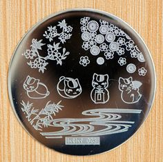 Cat Grass River Pattern Nail Stamping Plates Hehe 023