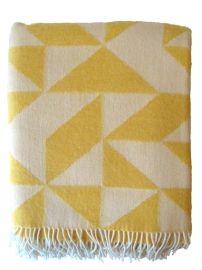 Lovely, warm, soft Twist a twill biodynamic merino blanket by Ratzer.