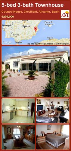 5-bed 3-bath Townhouse in Country House, Crevillent, Alicante, Spain ►€299,000 #PropertyForSaleInSpain