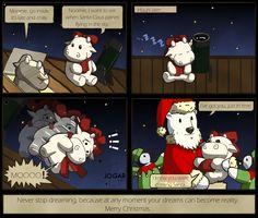 Moomie Cow Comic Happy Christmas