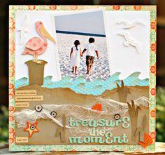 Treasure the Moment 2 beaches, scrapbook inspir, scrapbook beach, fl beach, scrapbookingtravel layout, card, scrapbook layout, pelican, beach layouts