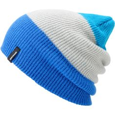 866c1ad7066 Spacecraft Offender Blue Grey 3 Stripe Beanie ( 18) ❤ liked on Polyvore  Solid And
