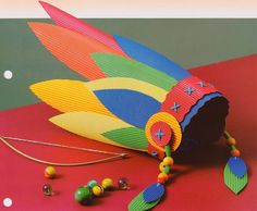 Indian hat_DIY ^^ teach your kids passive racist in the grade! Kids Crafts, Projects For Kids, Diy For Kids, Diy And Crafts, Craft Projects, Arts And Crafts, Crazy Hat Day, Crazy Hats, Diy Paper