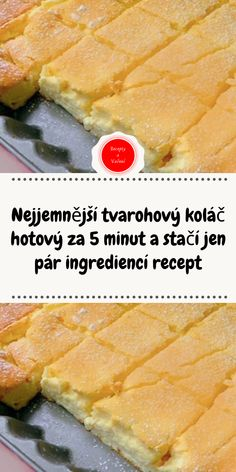 Nejjemnější tvarohový koláč hotový za 5 minut a stačí jen pár ingrediencí recept Apple Recipes, Cake Recipes, Cracker Barrel Fried Apples, Czech Recipes, Little Cakes, Sweet Desserts, Hot Dog Buns, Food Cakes, A Table