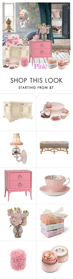 """""""Pink"""" by nicolevalents ❤ liked on Polyvore featuring interior, interiors, interior design, home, home decor, interior decorating, Grayce, WALL, Maura Daniel and MacKenzie-Childs"""