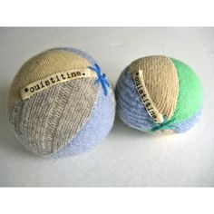 Ouistitine Upcycled Wool Rattle Balls for Babies