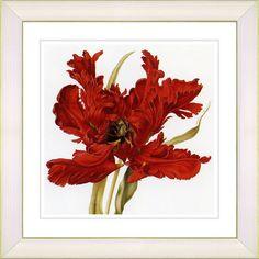 Vintage Botanical No. 21W by Zhee Singer Framed Giclee Print Fine Wall Art
