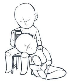 Для рисования Haircut Style short haircut styles for thin hair Drawing Base, Manga Drawing, Drawing Sketches, Chibi Drawing, Drawing Tips, Chibi Body, Chibi Sketch, Poses References, Drawing Reference Poses
