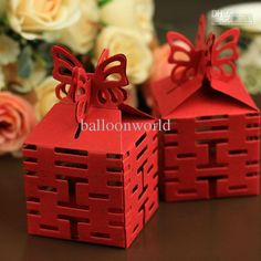 Wedding candy Chinese style boxes favours decorations party supply gift boxes