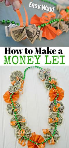 Graduation Gift DIY: Easy and COOL Money Lei – Hip2Save Diy Graduation Gifts, Leis For Graduation, Graduation Parties, Money Lay For Graduation, Preschool Graduation, Graduation Decorations, Diy Holiday Gifts, Cool Ideas, Easy Gifts