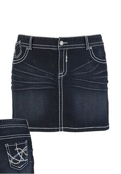Dark Wash Denim Skirt available at #Maurices I have it now