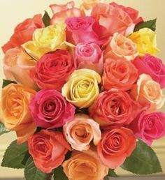 Mix Color Rose Bouquets... A perfect gift....