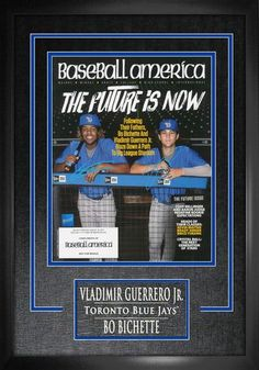 Dual Signed Magazine with Deluxe Frame - Toronto Blue Jays The Future Is Now, Toronto Blue Jays, Ways To Save, How To Know, Baseball Cards, Signs, Jr, Sports, Walmart