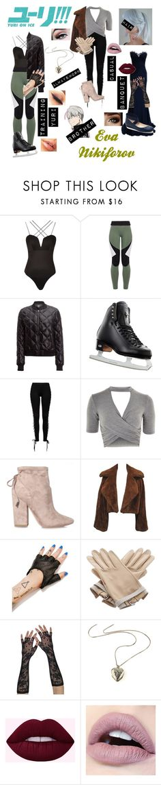 """""""*Yuri!!! On Ice: Eva Nikiforov*"""" by blissfull-darkness ❤ liked on Polyvore featuring Rare London, Charli Cohen, Alo Yoga, Riedell, Topshop, Kendall + Kylie, Marchesa, Five and Diamond, Hermès and Jessica Simpson"""