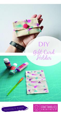 Cute little DIY Gift Card Holder!