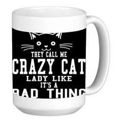 They Call Me a Crazy Cat Lady 15 ounce Ceramic Coffee Mug Tea Cup by Debbie's Designs ** Find out more details by clicking the image (This is an amazon affiliate link. I may earn commission from it)