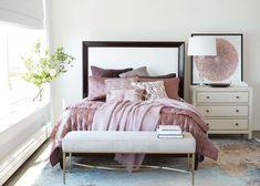 Smoky Rose Silk Velvet Pillow | Ethan Allen | Ethan Allen