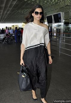 One shoulder outfit chic Anamika Khanna design on actress Sonam
