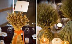 Simple Fall Wedding Centerpieces