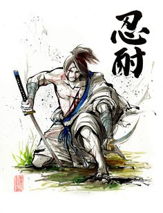 Print 8x10 Catholic Crusader Samurai Series III Japanese by MyCKs