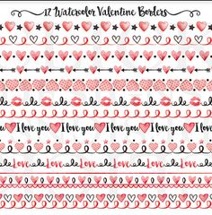 Valentine Borders Clipart: VALENTINE BORDERS Love by ClickDesigns