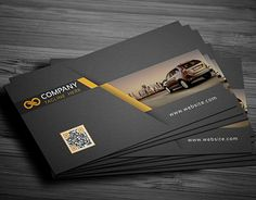 Rent a Car Business card Beauty Business Cards, Cool Business Cards, Corporate Branding, Free Printable Business Cards, V Card, Laser Cutter Ideas, Id Card Template, Visiting Card Design, Professional Business Card Design