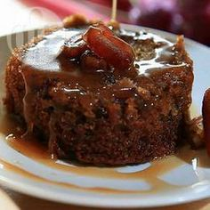 Sticky Toffee Pudding With Hot Toffee Sauce Recipe Desserts with dates, hot tea, butter, caster sugar, eggs, plain flour, baking powder, bicarbonate of soda, vanilla extract, instant espresso granules, toffee sauce, butter, sugar, granulated sugar, golden syrup, cream, vanilla extract