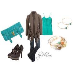 Fabulous cashmere cardigan,See Thru Soul Jeans, Jessica Simpson shoes, Proenza clutch