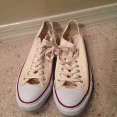 Converse low top sneakers size 11 women's Great condition size 11 women's or 9 men's Shoes Athletic Shoes