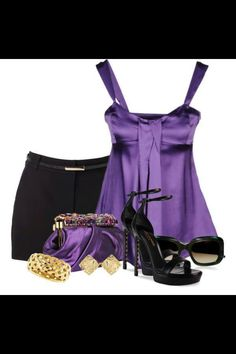 Sexy Purple Outfit