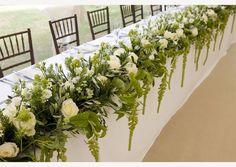 The top table at my clients wedding - Gallery • Jades Flower Design - Wedding Flowers, Bridal Bouquets, Essex, Suffolk, Cambridgeshire & London • Jades Flowers