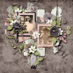 Scrap your family's heritage with Cherish Yesterday digital scrapbook kit by Jen Yurko. The pretty pink and purple color palette will work beautifully with any of your vintage photos. Paper Feathers, Purple Color Palettes, Torn Paper, My Scrapbook, Pretty In Pink, Digital Scrapbooking, Vintage Photos, Floral Wreath, Kit