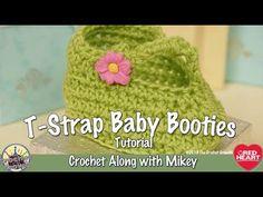 T-Strap Booties Crochet Pattern | Red Heart