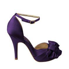 Wedding Shoes, Bridal Shoes, Pumps, Sandals, Wedge by Nina Shoes Purple Wedding Shoes, Purple Heels, Wedding Heels, Bridal Shoes, Yellow Wedding, Wedding Colors, Navy Pumps, Satin Pumps, Nina Shoes