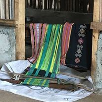 ikat weaving, the artisan is a 40 yr old woman of Amanuban, one of the 3 biggest tribe in Timor