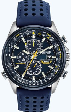 Citizen Citizen Eco-Drive Blue Angels World Chronograph A-T AT8020-03L Atomic Timekeeping