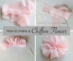 diy chiffon flowers, crafts, wreaths
