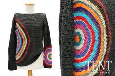 Tienda TENT by Roxana Galindez - Tejidos Artesanales: Sweaters ALEXANDRA en gris