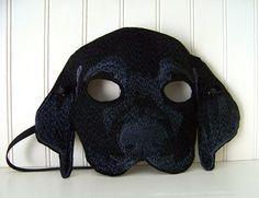 Black Lab Mask for Adult by Madeit4u on Etsy. $15.00, via Etsy.