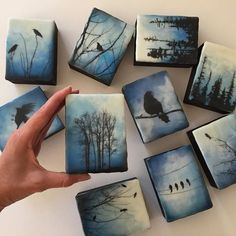 Landskapsmalerier og fotografier: Bilderesultat for Alanna Sparanese - # Small Canvas Paintings, Small Canvas Art, Mini Canvas Art, Small Paintings, Landscape Paintings, Landscape Fabric, Landscape Art, Canvas Paper, Indian Paintings