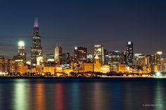 »Chicago by Night« by Joerg Piechotka