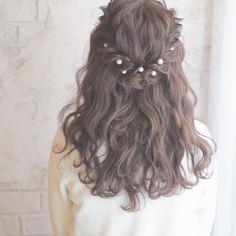 結婚式だけはもったいない♡普段使いの「パールピン」アレンジ5連発 - LOCARI(ロカリ) My Hairstyle, Twist Hairstyles, Bride Hairstyles, Pretty Hairstyles, French Twist Hair, Medium Hair Styles, Long Hair Styles, Quinceanera Hairstyles, Mariage