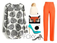 """""""Foxy"""" by savvy-licious ❤ liked on Polyvore featuring Jil Sander and Adrienne Landau"""
